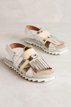 Tsumori Chisato Metallic Kiltie Flatforms #anthropologie $328 http://www.anthropologie.com/anthro/product/shoes-new/33755711.jsp#/