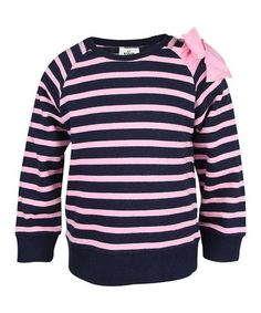Take a look at this Bubblegum Pink Stripe Top - Infant, Toddler & Girls by RUUM on #zulily today!