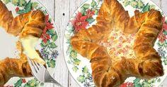 Estrella de hojaldre con los bordes rellenos American Party, Tapas, Turkey, Meat, Chicken, Recipes, Food, Puff Pastry Recipes, Spinach