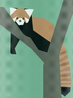 Paper pieced red panda quilt pattern