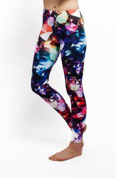 Colorful Print Leggings / Womens Leggings /  by TulipeStudio