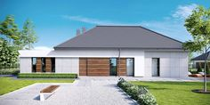 Moderna lepotica Kuća koja će vas osvojiti na prvi pogled Circle House, Modern Fence, Facade House, Home Fashion, Future House, Gazebo, House Plans, Garage Doors, Outdoor Structures