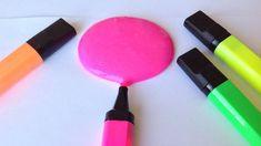DIY/tuto comment faire du Slime fluo facile avec un surligneur