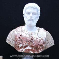 Photo of Large Italian Bust Roman Emperor Antoninus Pius Statue Carved Body Museum, Antoninus Pius, Marble Bust, Roman Emperor, Empire, Carving, Sculpture, Statue, Wood Carvings