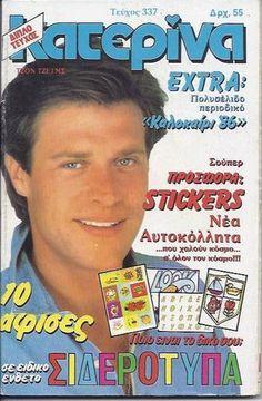 JOHN JAMES - GREEK -  Katerina Magazine - 1986 - No.337 John James, Stickers, Cover Photos, Greek, Childhood, Magazines, Books, Vintage, Journals