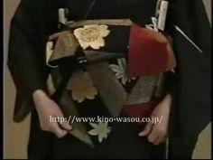 着物の帯の結び方 二段のしめ片ばさみ - YouTube