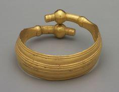 Bracelet - 8th century BC. Gold. Culture: Greek, Geometric, Thessaly. Period: Geometric. | Copyright © 2015 The Yale University Art Gallery