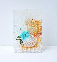 A blue and orange card by Yvonne Yam #myfavoritevalentine