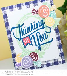 Project by Ashley Cannon Newell for Papertrey Ink - May 2016 - #AshleyCannonNewell #PaperSuite #PapertreyInk - Paper Clippings: Thinking of You