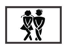 Fußmatte Matte PIPI LOUNGE SYMBOL WEISS Toilette von Interluxe via dawanda.com
