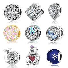 2017 Hot Sale Fit Pandora Charms Original  Bracelet Openwork Charm Wth Clear Zirconia 925 Silver Bead DIY Jewelry Gift Berloque #Affiliate