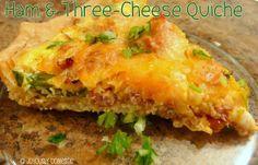 Ham and Three-Cheese Quiche