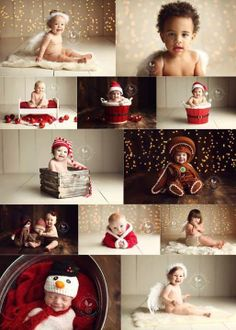Babies- Winter/Holiday Baby Style For the 2014 outdoor sessions, reds and ivories and greens and whites are perfect. Make sure baby is warm enough without losing them in their layers! The less clothing on a baby/toddler for the indoor session, the better. Shannon also provides plenty of props & costumes, etc. at Studio 47.