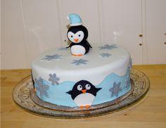 Pinguin fondant cake for my Mum's birthday