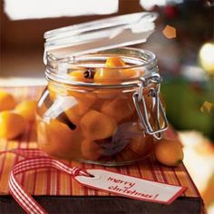 Gifts-in-a-Jar: Jams, Spreads & Sauces  | Kumquats in Spiced Syrup with Cloves, Cinnamon, and Star Anise | MyRecipes.com