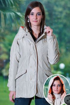 The only waterproof SILK down jacket in the world! Eco-consciously made, light, breathable with detachable hood. Available in sand or black. Clothing Company, Rain Jacket, Windbreaker, Silk, Jackets, Clothes, Black, Fashion, Down Jackets