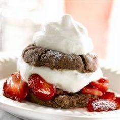 Chocolate Strawberry Shortcake from Martha White