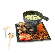 Fondue is perfect for a special occasion, but what if the fondue pot itself were a visual treat?