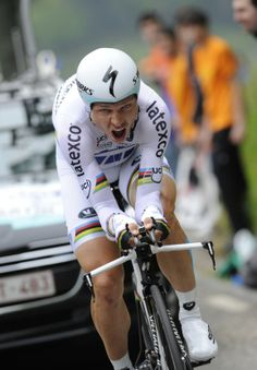 Tony Martin in action during Stage 6 of the 2014 Tour of the Basque Country