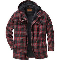 Legendary Whitetails Men's Camp Night Berber Lined Hooded Flannel Shirt Jacket Hooded Flannel, Flannel Outfits, Flannel Jacket, Mens Flannel Shirt, Shirt Jacket, Hooded Jacket, Picnic Outfits, Mens Clothing Styles, Shirt Style