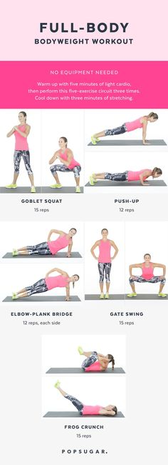 Full-Body Bodyweight Workout hause trainieren The At-Home Workout That Works Your Entire Body in 20 Minutes Full Body Bodyweight Workout, Cardio Workout At Home, Hiit, At Home Workouts, Cardio Workouts, Daily Workouts, Weight Workouts, 20 Minute Workout, Week Workout
