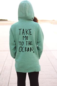 Take Me To The Ocean  Beach Sweater  Graphic by PowderAndSea