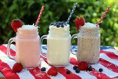 Three Patriotic Probiotic Smoothies