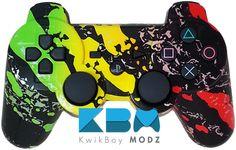 Rasta Splatter DualShock 3 PS3 Controller - KwikBoy Modz  #customcontroller #ps3 #ps3controller #rasta #rastacontroller #bobmarley #moddedcontroller #gaming