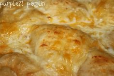 BAKED CHICKEN CHEESE FILLED ROLLS (cresent dinner rolls, cheese, chicken, cream of chicken soup, milk, cream cheese, butter, spices... bakes 30-35 minutes)