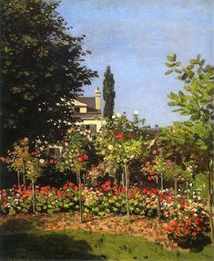Garden in Bloom at Sainte-Addresse, 1866, Claude Monet