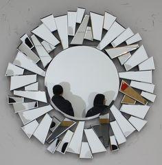 Mirror Mosaic, Mirror Art, Diy Mirror, Mosaic Art, Mosaic Glass, Cheap Wall Mirrors, Fancy Mirrors, Cortinas Country, Do It Yourself Furniture