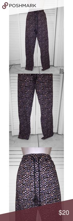 Red blue and black soft pants Cute light weight soft pants perfect for spring and summer.   Size: SMALL  Condition: NEW WITH TAGS  #: 045   - I BUNDLE!  - (Comment on what you want bundled and I'll create a listing.)  - All sales are final. - Questions? Feel free to comment! Pants Skinny