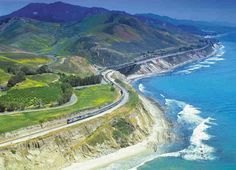 Coast Starlight; Los Angeles, CA to Seattle, WA; Distance: 1,377 miles; Cost per ticket: $120; Driving up the Pacific coast is about as classic as American road trips can get. That being said, if you're the lucky one behind the wheel, it's hard (and, ya know, dangerous) to really take in the sights. The Coast Starlight hits all the highlights: the dramatic cliffs along the PCH, Mount Shasta, the San Francisco Bay, Oregon's Cascade mountains, Mount Rainier, and Puget Sound.