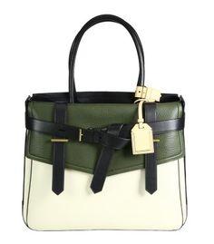 Reed Krakoff Boxer I Colorblock Canvas Tote , handbag  - Available Now on #ShopBAZAAR