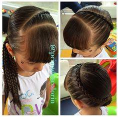 peinados colorin - Buscar con Google Lil Girl Hairstyles, Pretty Hairstyles, Cute Hairstyles, Braided Hairstyles, Girl Hair Dos, Girls Braids, Toddler Hair, Love Hair, Hair Designs