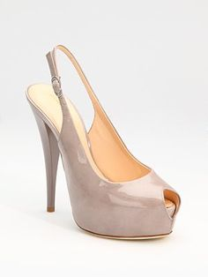I'd let you break my toes any day.    Giuseppe Zanotti  Patent Leather Slingback Pumps  Was $595.00 Now $415.99