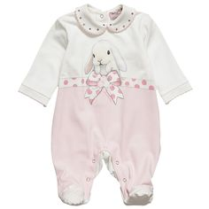 Girls Babygrow With Bunny - Baby | Childrensalon