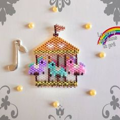 Seed Bead Crafts, Beaded Crafts, Beaded Ornaments, Diy Jewelry Projects, Beading Projects, Seed Bead Patterns, Beading Patterns, Hama Beads Design, Brick Stitch Earrings