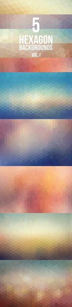 5 Hexagon Backgrounds Vol. I Reminds me of rain-spattered windows. Fuel to Creativity ? Web Design, Tool Design, Layout Design, Design Art, Cv Inspiration, Graphic Design Inspiration, Affinity Designer, Texture Design, Background Patterns
