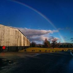 Well, we've been suffering from the aftermath of storm Jonas, luckily with just a bit of wind and rain (ok, a LOT of rain!). There was a break in the rain this afternoon and we caught this spectacular rainbow over the warehouses! #distillery #Tomatin #warehouse #rainbow #storm #bluesky #whisky #scotch #tomatinlife