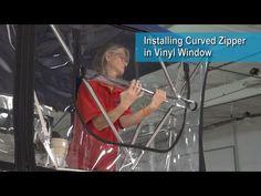Installing Curved Zipper in Vinyl Window Video