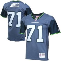 NFL Jersey's Mens Seattle Seahawks 12th Fan Mitchell & Ness Royal Blue Retired Player Vintage Replica Jersey