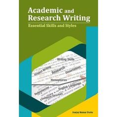 Academic and Research Writing : Essential Skills and Styles Writing good English is important in many contexts of our lives. Mastering writing skills can make us excel in both academic and professional levels. Students with good writing skills have an edge over others as they can effectively convey what they have learnt. English is used for a variety of purposes, namely writing books, research papers, dissertations, term-papers, book reviews, press statements, company reports, essays… Research Writing, Research Paper, Writing Skills, Writing A Book, Custom Essay Writing Service, Custom Writing, Writing Services, College Application Essay, College Essay