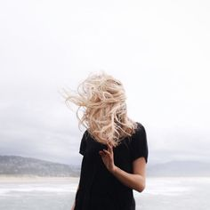By the sea. | Windblown, tousled and tangled blond locks. | Source: birdasaurus - Alexis Clementine | Pinned via Death by Elocution
