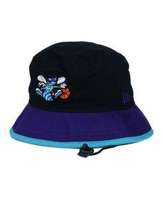4d27b5462b8 New Era Charlotte Hornets Black-Top Bucket Hat Hat Men