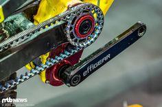 Das Effigear Getriebe hat sich im Downhill-Einsatz in Kombination mit Gates Carbon Drive Riemenantrieb bewährt