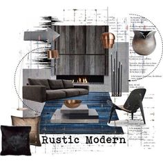 I Love These Tones In A Living Room! Dark And Cool But Very Inviting From. Interior  Design Mood BoardsMoodboard ...