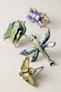 omg. SO cute - they look like brooches.  Entomology Knob - anthropologie.com