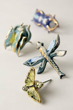 omg. SO cute - they look like brooches.  Entomology Knob - anthropologie.com