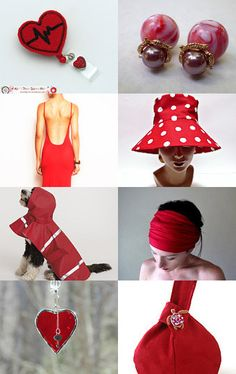 Lady in red by Julia Smorochinska on Etsy--Pinned+with+TreasuryPin.com